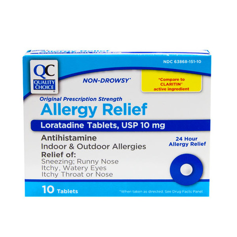 Qc Non Drowsy Allergy Relief Capsules 10mg