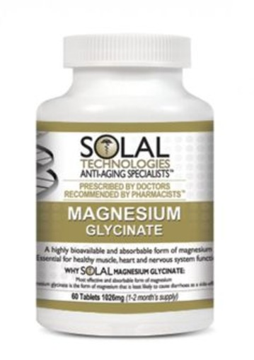 Solal Magnesim Glycinate 200mg 60 Tabs