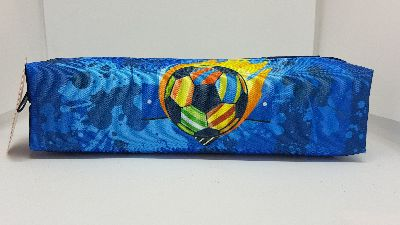Pencil Case - Football Pouch Round
