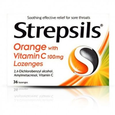 Strepsils Orange With Vitamin C 36s